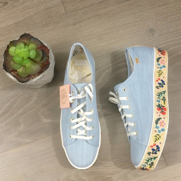 Keds x Rifle Paper Co Denim Rosalie Platform Shoes